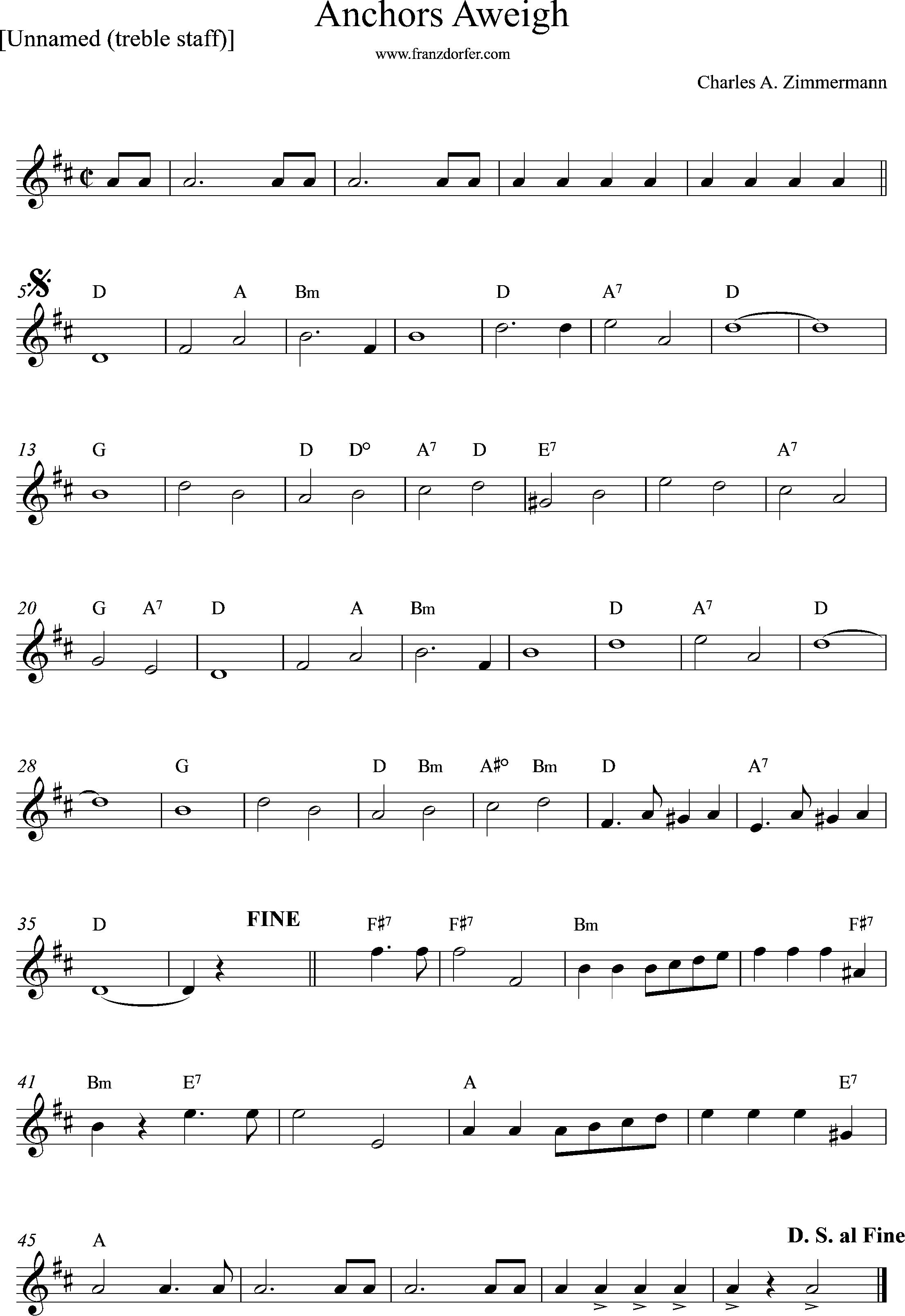 Clarinet Part, sheetmusic, D-Major